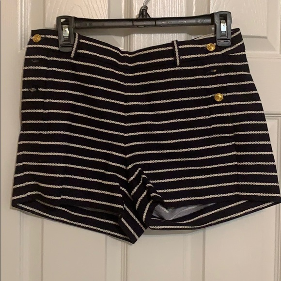 J. Crew Pants - J Crew Sailor shorts. Navy with white stripes